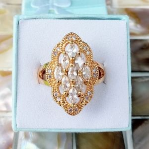 Gold plated CZ Ring